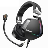 Lenovo H402 Gaming Headphone USB 7.1 Surround Sound Deep Bass RGB Colorful Light Headset with Mic for PC Laptop Gamer