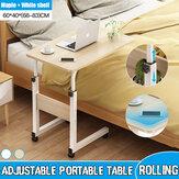 Mesa portátil removível para Macbook removível com 2 suportes de gravata de madeira ao lado da cama Mesa de cabeceira para laptop Móveis para casa