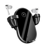 Bakeey WT01 2 in 1 TWS Kulaklık Kablosuz Araba Şarj Cihazı Qi Şarj Stand Holder Hızlı Şarj iPhone 12 XS 11Pro MI10 S20 + Not 20