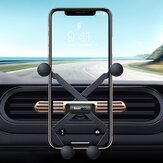 Essager Mini Gravity Linkage Automatic Lock Air Vent Car Phone Holder Car Mount For 4.0-6.5 Inch Smart Phone For iPhone SE 2020 Huawei