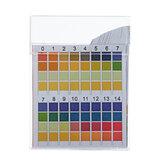 100 шт. / Коробка PH тест-полоски Прецизионные четырехцветные сравнительные полоски для измерения качества питьевой воды 0-14 PH