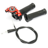 Quick Action Twist Throttle com cabo vermelho 125cc 140cc 150cc Pit Bike