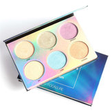 6 Colos Chameleon Eye Shadow Highlighter Palette Makeup