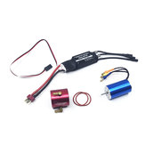 Hobbywing 2S-3S 40A Brushless ESC+2440 4600KV Brushless Motor RC Boat Parts