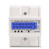 DDS024 3 fazowy 4-przewodowy licznik energii 380V AC 50Hz Podświetlenie wyświetlacza LCD Elektroniczny wat mocy w watach Miernik energii Wattmeter