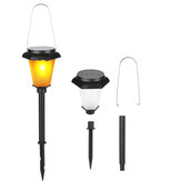 1/4 Pcs 12LED Solar Lawn Lights Pathway Landscape Garden Lawn Patio Flame Lamp Waterproof
