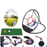 Golf Chipping Net Katlanır Mini Golf Eğitim Net Salıncak Pitching Net Outdoor Spor Golf Mat ile