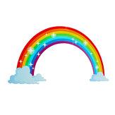 Wielobarwny Rainbow Naklejki ścienne dla dzieci Sypialnia Przedszkola Naklejki Vinyl Wall Decor