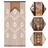 31 lignes bâtons en bois rideau perlé porte stores en bambou voler écran rideau de porte