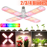 E27 2/3/4 Blades Full Spectrum LED Grow Light Bulb Folding Hidropônico Plantas Indoor Lâmpada Crescente 85-265V