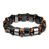 Prosty styl czarny magnes kamień łańcuch Tygrysie oko koraliki bransoletka opieki zdrowotnej dla mężczyzn kobiet
