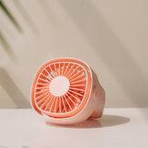 3life Mini FanDönen Masaüstü Fan Düşük Gürültü Yüksek Rüzgar Doğal Rüzgar USB Şarjı [Ekolojik Zincir]