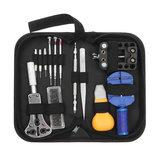 14pcs portable montre outil de réparation kit ouvreur de cas lien de dissolvant barre d'outils de ressort ensemble