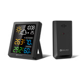 DIGOO DG-8647 Mini HD Farbbildschirm LCD Wetterstation Wecker Smart Hygrometer Thermometer Snooze Dual Desktop Clock