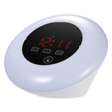 TS - S23 LED Display Digital Thermometer Hygrometer With Desk Table Clock USB Power RGB Light LED Alarm Clock Snooze Function