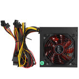 20+4Pin 1000W ATX PC Desktop Computer Power Supply PSU PFC 220V Quiet Fan Red