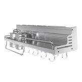 Support de cuisine en aluminium Bright Space avec garde-corps rehaussé de porte-gobelet double support de stockage de condiments