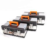 FINDER ABS y hardware de acero inoxidable engrosamiento decoración de electricista multifuncional de gran capacidad herramienta Almacenamiento Caja