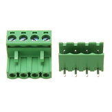 2EDG 5.08mm Pitch 4 Pin Plug in Screw Dupont Cable Terminal Block Connector Right Angle