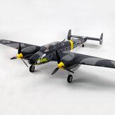 Dynam Messerschmitt BF-110 V3 1500mm Envergure EPO Warbird RC Avion PNP
