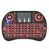 I8 Russian Wireless Three Color Backlit 2.4GHz Touchpad Keyboard Luchtmuis