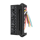 JZ5704 Jiazhan Car 10 Way Fuse Box 10 Road With Wire Modification Basic Block Auto Fuse Holder