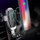 Qi Беспроволочный 360 ° Gravity Авто Быстрое держатель для держателя зарядки для iPhone X 8 для Samsung Note 8
