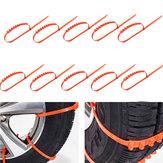 Chaîne de boue de glace de neige de camion de voiture 10PCS Roue de pneu de roue anti-dérapage tendon épaissi