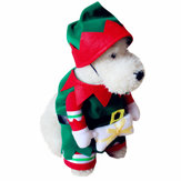 Pet Dog And Cat Christmas Suit Santa Claus Dressing Up Odzież Party Odzież z kapeluszem