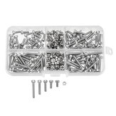 Suleve™ M3SS6 210Pcs M3 Hex Socket Cap Head Screws Nut Assortment Set Stainless Steel