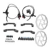 M2電気MTBバイク油圧ブレーキディスクセットフロントリアミネラルオイルレバー160 mmローター