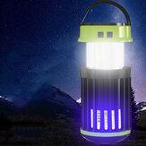 Портативный Солнечная Зарядный электрический убийца комаров Лампа 3 режима LED Перезаряжаемый Кемпинг Водонепроницаемы Палаточный светил