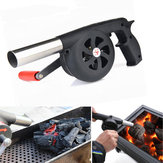 Outdoor Camping BBQ Grill Fan Air Blower Picnic Barbecue Cooking Fire Hand Crank