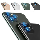 3D Tempered Glass + Metal Circle Ring Anti-scratch Phone Lens Protector for iPhone 11 / iP 11 Pro / iP 11 Pro Max