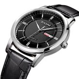 DOM M-11 Business Style Calendar Leather Strap Men Watch