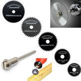 6pcs Metal HSS Circular Saw Blade Set Cutting Discs for Rotary Tool