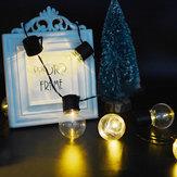 KCASA SSL-4 Tuinieren 3.5M 10LED Zonnepaneel Light Blub Holiday Christmas Wedding Decoration