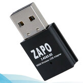 Zapo W58 Mini 5Ghz محول وايفاي USB 600Mbps Dual حزام Wireless 802.11Ac Network بطاقة محول مدمج in هوائي for Windows Linux Syst