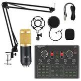 Microphone à condensateur BM800 avec V9X PRO mélangeur de carte son ensemble d'enregistrement de diffusion en direct micro téléphone K chanson ordinateur karaoké chanter