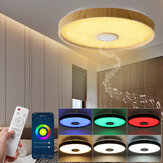 38CM Ceiling Light with bluetooth Speaker Dimmable Modern Smart Home Party Light Control Light Color Brightness and Music with Remote Control Through Mobile App