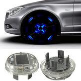 4モード  12 LED  車自動ソーラー・エネルギー・フラッシュ・ホイールタイヤ・リムライトランプ