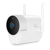Xiaovv XVV-1120S-B1 H.265 Smart 1080P Câmera panorâmica Onvif impermeável 180 ° Câmera externa IP infravermelho de visão noturna para bebê em casa Monitor de bebê Câmera externa de alta definição para controle