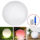 Energia słoneczna nadmuchiwana piłka LED lampka nocna bezprzewodowy basen pływający wystrój ogrodu