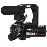 Ordro AC7 Digital Camcorder Vlog DV 4K 10X Optical Zoom 3.1 inch Touch Screen 24MP Support WIFI with Microphone SD Card HD Camaras