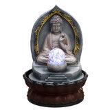 Gesneden hars B uddha stromend water standbeeld fontein Feature Outdoor Decorations