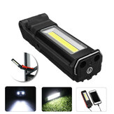 400LM 2LED+COB Foldable Car Maintenance Light USB Rechargeable Flashlight Bike Cycling Night Warning Work Light