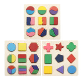Early Education Children Jigsaw Puzzle Toy Wooden Geometric Board Cognitive Matching Board