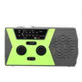 NOAA الطقس راديو FM الطوارئ الشمسية اليد الساعد المصباح الذاتي بالطاقة قوة البنك قراءة مصباح راديو