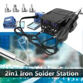 750W LCD Rework Soldering Station 8582D Electric Hot Air Gunn Heater SMD Desoldering Iron Station Solder Welding Machine