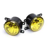 右/左LEDフロントフォグライトランプレンズ、H8/H11電球付き、琥珀色、ユニバーサルHondaシビックフィットオデッセイ用